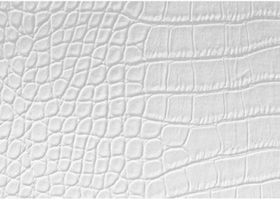White Leather Alligator