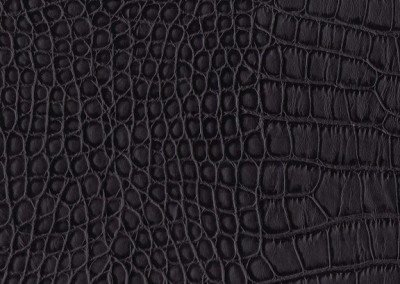 Leather Black Alligator